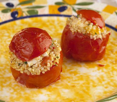 tomate farcie quinoa legume