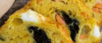 Cake aux algues et crevettes