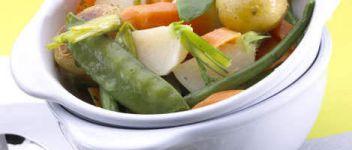 jardinière crémée de légumes croquants