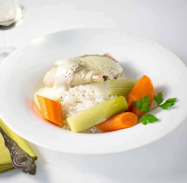 poule legumes riz