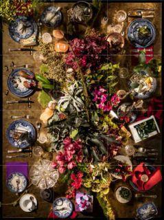 decoration florale noel reveillon
