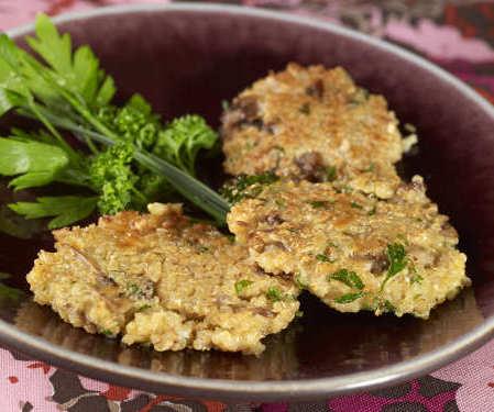 galette quinoa champignon