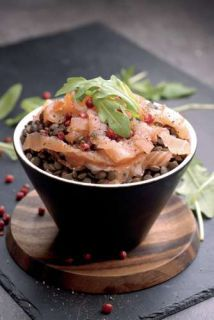 salade lentille saumon quinoa