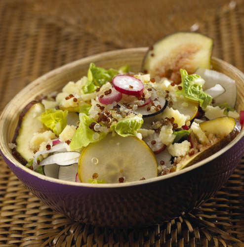 salade quinoa fruit fromage