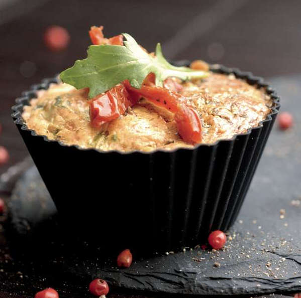 flan roquette tomate