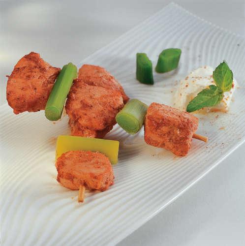 brochettes de poulet tandoori marin aux d lices des indes. Black Bedroom Furniture Sets. Home Design Ideas