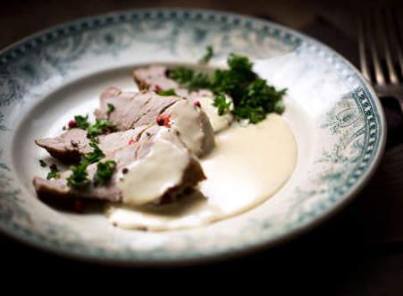 Filet mignon de porc à la crème de Munster