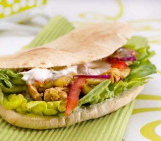 Kebab dinde sauce blanche