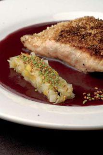 saumon au vin rouge