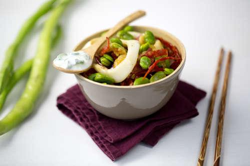 wok calamar feve
