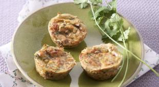 Bouchee courgettes-fromage