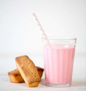 financier lait fraise