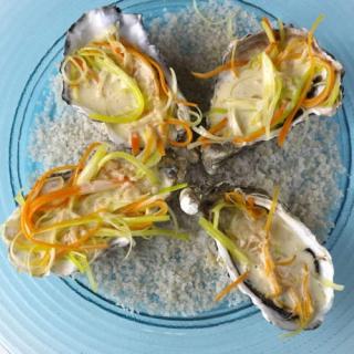 huitre julienne beurre blanc