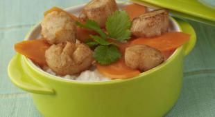 Risotto au jus de carotte et Saint Jacquescarvi