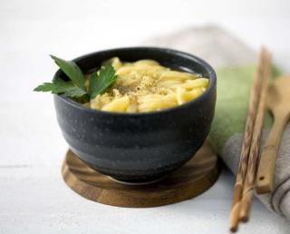 bouillon thai tagliatelle de riz