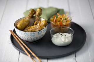 verrine asiatique poulet legumes