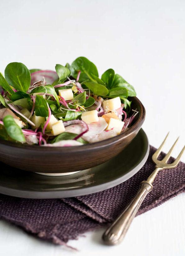 Salade betterave poisson fume