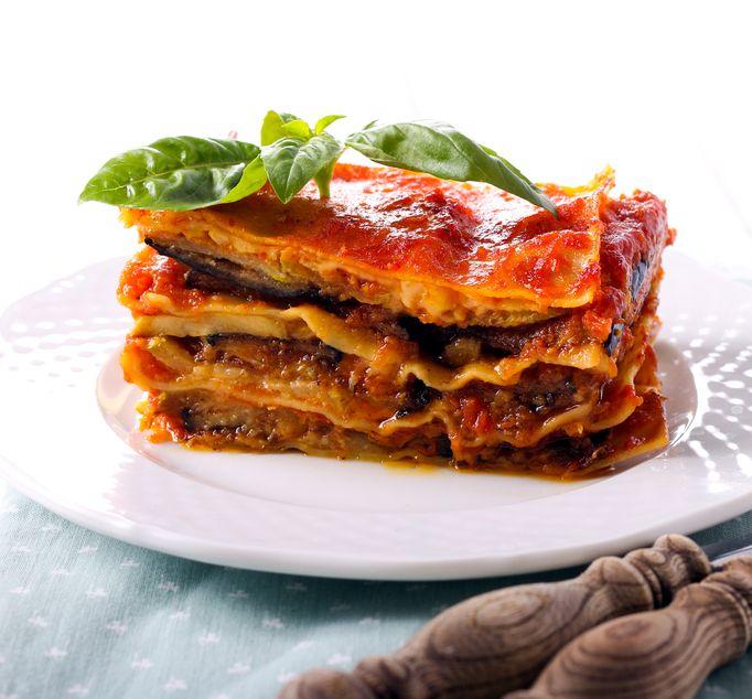 lasagne aux aubergines et tomate