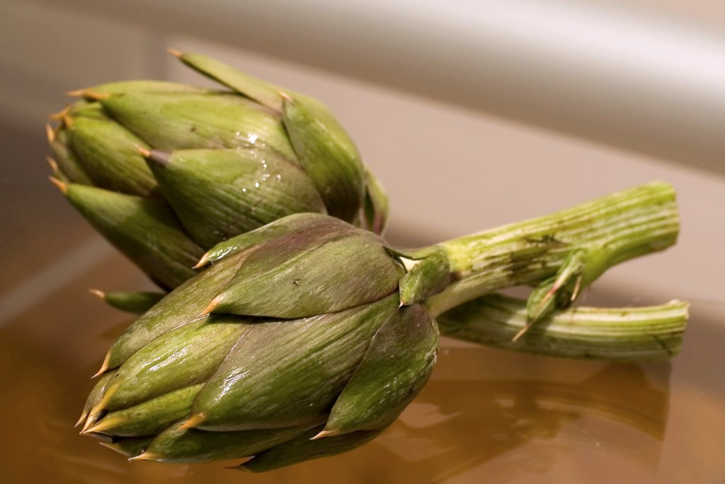 Artichoke recipe needing two artichoke heads.