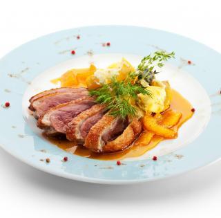 Magret de canard orange