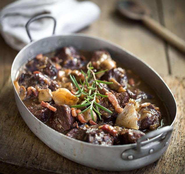 boeuf bourguignon lardon champignon