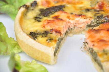 tarte au saumon et epinard