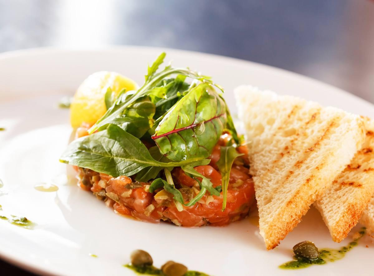 Tartare saumon olive recette