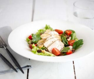 salade volaille fruits sec tomate cerise