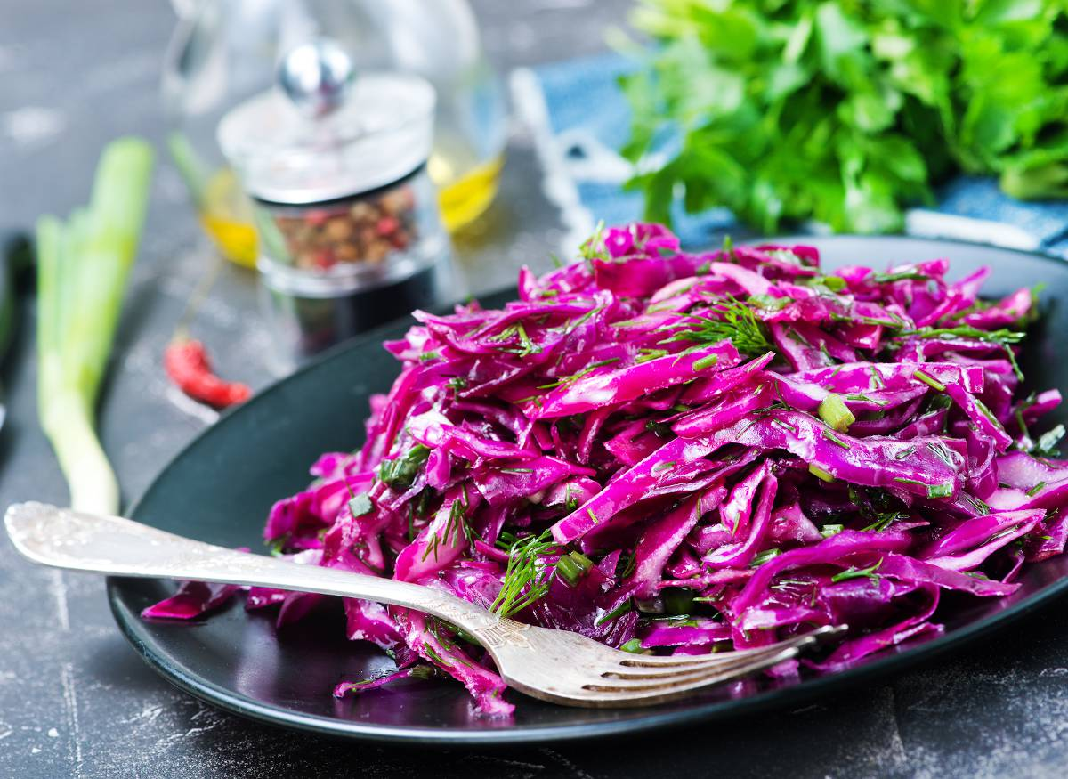 Salade chou rouge assaisonnement