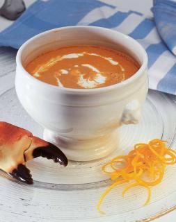 soupe crustacees orange