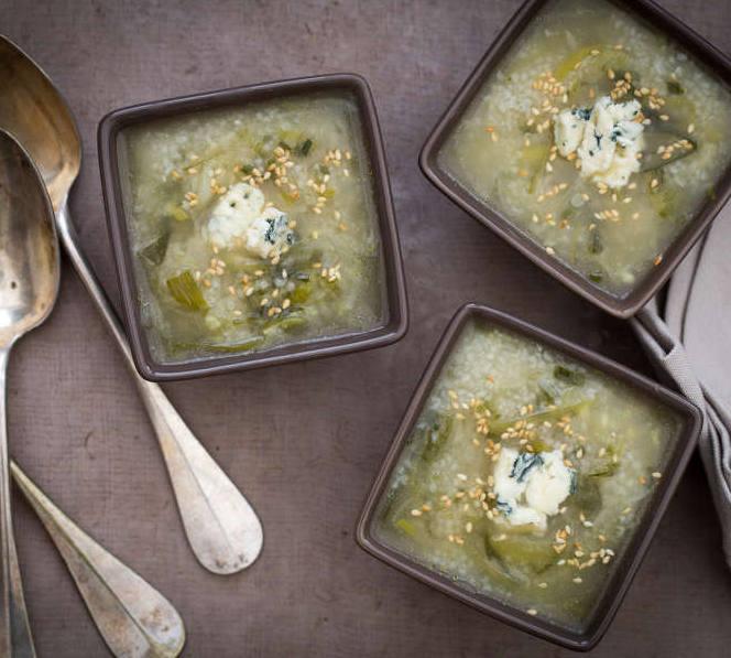 bouillon de legume au bleu