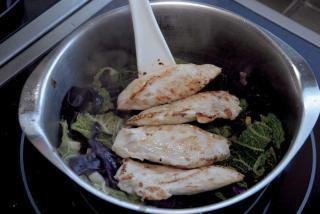 recette cocotte chou poulet
