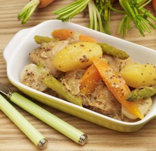 Ragout dinde creme legumes