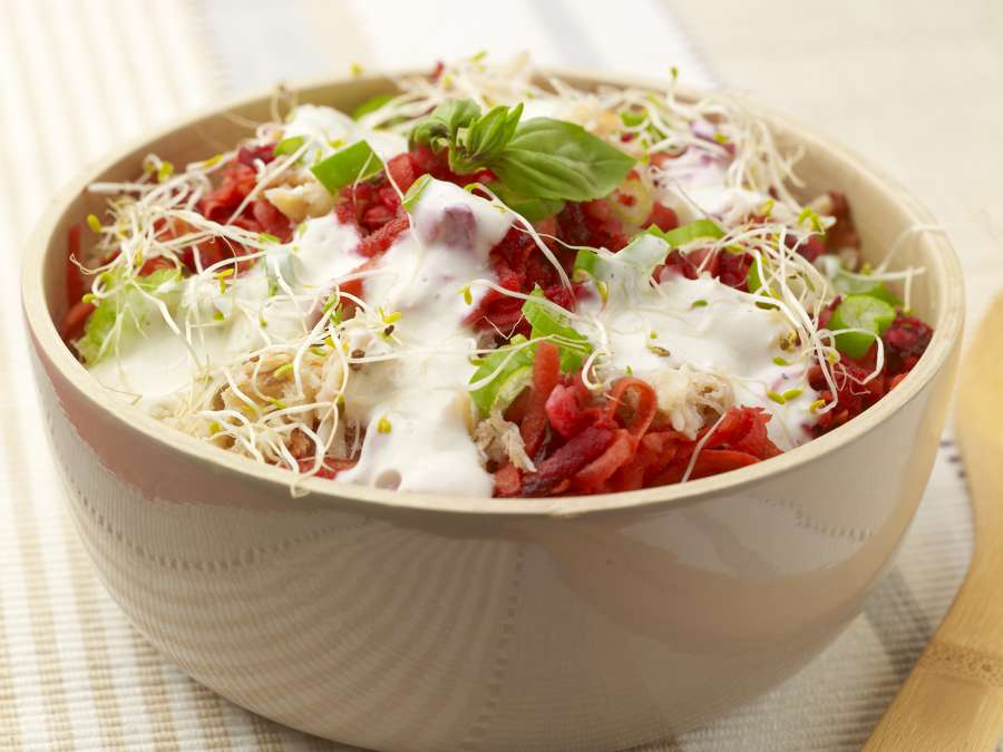 Salade crabe sauce yaourt