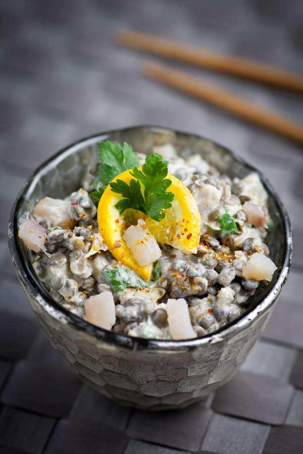 Salade lentille curry
