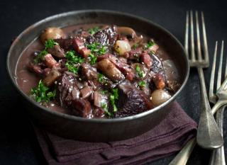 recette boeuf bourguignon avec lardon et champignon