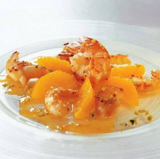 lotte langoustine orange recette