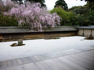 graviers dans un jardin japonais