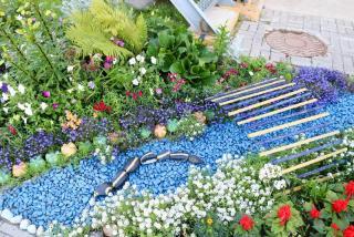 idee deco bleu jardin