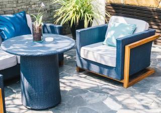 mobilier jardin bleu