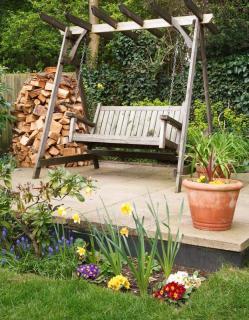 jardin en longueur sur differents niveaux