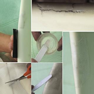 reparation chaise table jardin resine fibre de verre