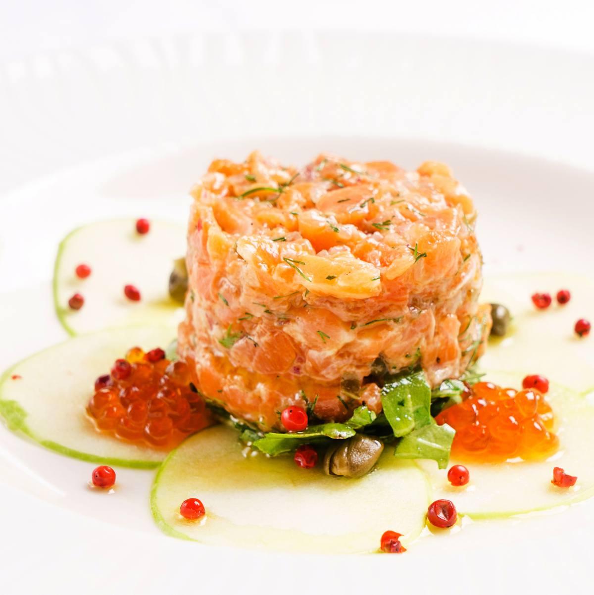 Tartare saumon melon