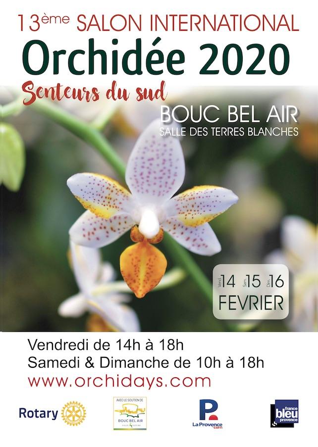 Affiche Orchidée 2020