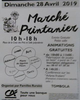 Flyer Marché Printanier 28 avril 2019