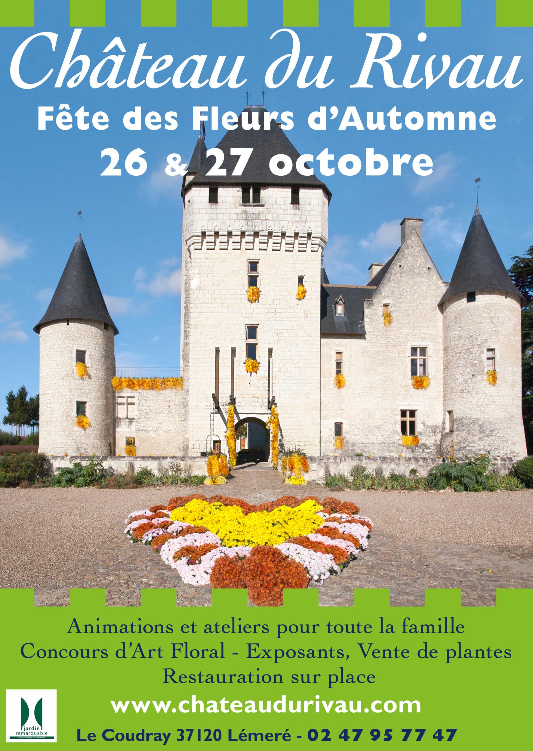 Rivau - Fete fleurs Automne 2019